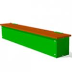 Ящик-скамья для теневых навесов